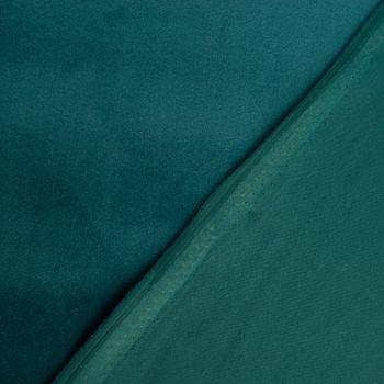 Samtstoff Dekostoff Velvet Samt einfarbig petrol 1,4m – Bild 4
