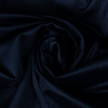 Samtstoff Dekostoff Velvet Samt einfarbig nachtblau 1,4m – Bild 2