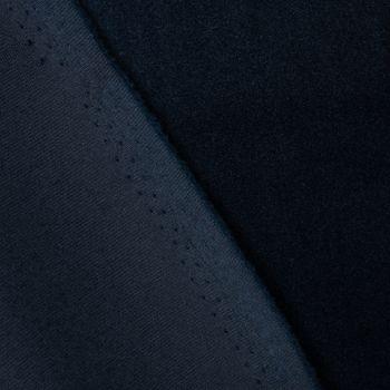 Samtstoff Dekostoff Velvet Samt einfarbig nachtblau 1,4m – Bild 3