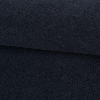 Frotteestoff Stretch Frottee einfarbig dunkelblau 1,5m Breite – Bild 1