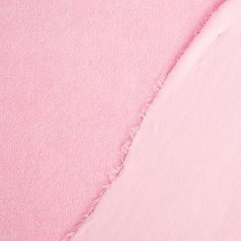 Frotteestoff Stretch Frottee einfarbig rosa 1,5m Breite – Bild 6