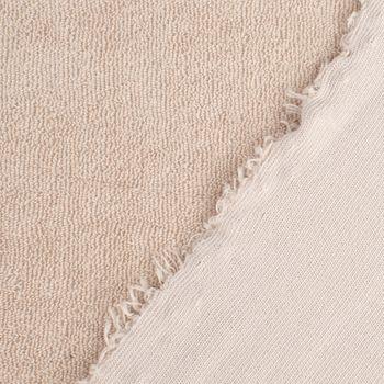 Frotteestoff Stretch Frottee einfarbig beige 1,5m Breite – Bild 5