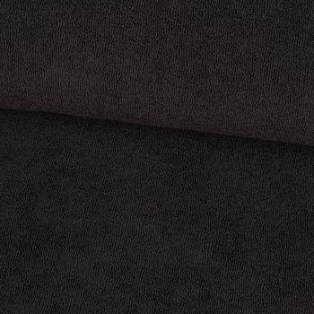 Frotteestoff Stretch Frottee einfarbig schwarz 1,5m Breite – Bild 1