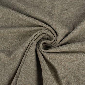 French Terry Sommersweat einfarbig khaki meliert 1,50m – Bild 3