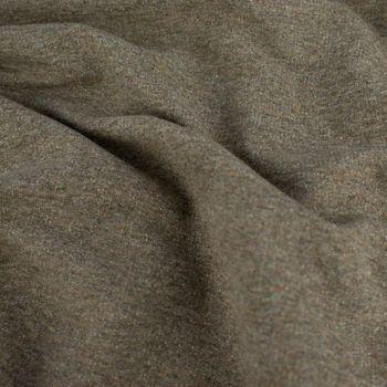 French Terry Sommersweat einfarbig khaki meliert 1,50m – Bild 4