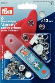 Prym NF-Druckknopf JERSEY MS Perlkappe weiß 12 mm 6Stück