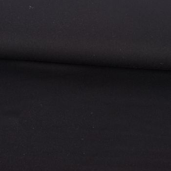 Bekleidungsstoff Twill Köper Wool Touch extra weich einfarbig schwarz 1,45m Breite – Bild 1