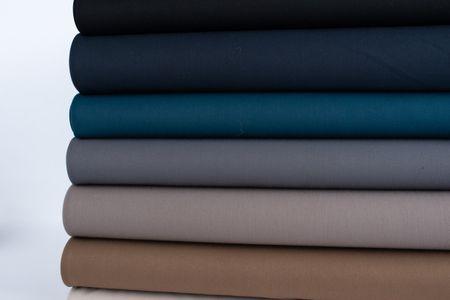 Bekleidungsstoff Twill Köper Wool Touch extra weich einfarbig dunkelblau 1,45m Breite – Bild 6