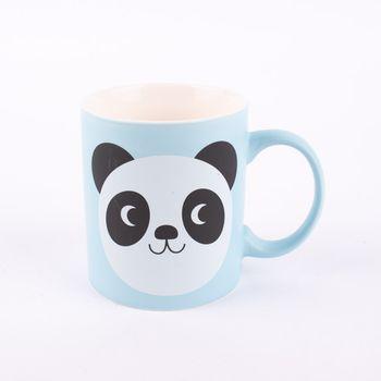 Tasse Panda Miko Keramik hellblau 8x12x9cm – Bild 1