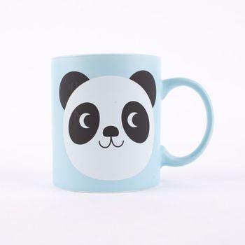 Tasse Panda Miko Keramik hellblau 8x12x9cm – Bild 2
