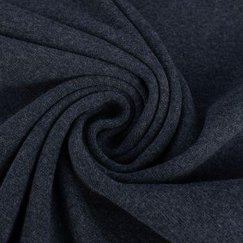Kreativstoff Strickschlauch Bündchenstoff fein dunkelblau meliert 37cm Breite – Bild 4