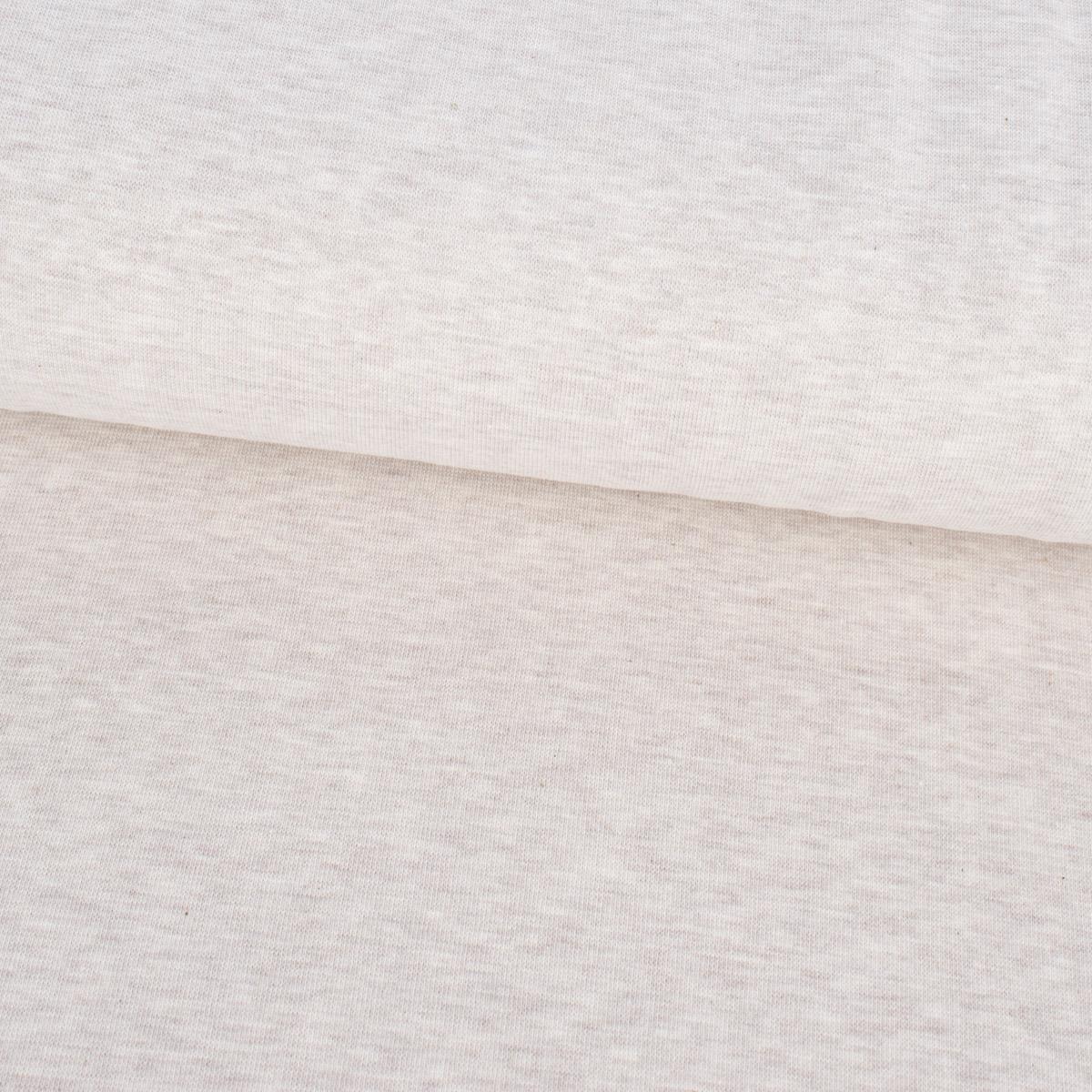 Kreativstoff Strickschlauch Bündchenstoff fein beige meliert 37cm Breite