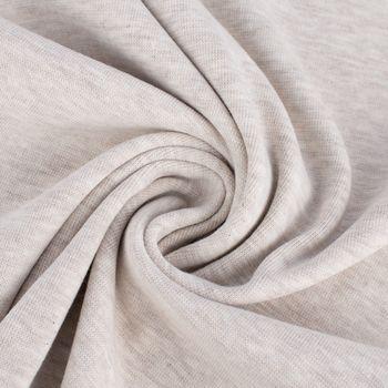 Kreativstoff Strickschlauch Bündchenstoff fein beige meliert 37cm Breite – Bild 4