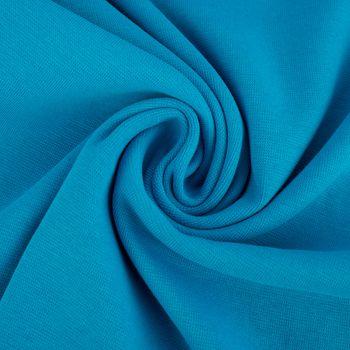 Kreativstoff Strickschlauch Bündchenstoff fein dunkel türkis 37cm Breite – Bild 4