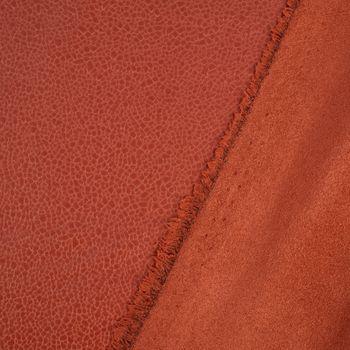 Lederjersey Jersey Struktur einfarbig orange 1,5m Breite – Bild 5