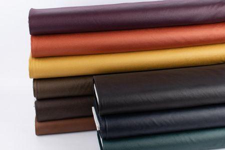Lederjersey Jersey Struktur einfarbig khaki 1,5m Breite – Bild 6