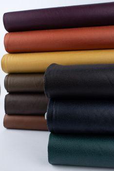 Lederjersey Jersey Struktur einfarbig khaki 1,5m Breite – Bild 10