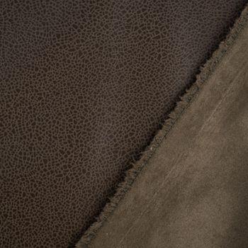 Lederjersey Jersey Struktur einfarbig khaki 1,5m Breite – Bild 5
