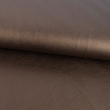 Bekleidungsstoff Kunstleder Lederimitat einfarbig braun metallic 1,4m Breite – Bild 1