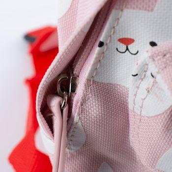 Kinder Rucksack Katze Cookie rosa rot weiß 21x10x28cm – Bild 3