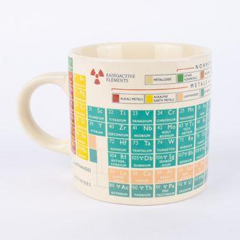 Tasse Periodensystem Keramik weiß bunt 9x12,5x8,5cm – Bild 1