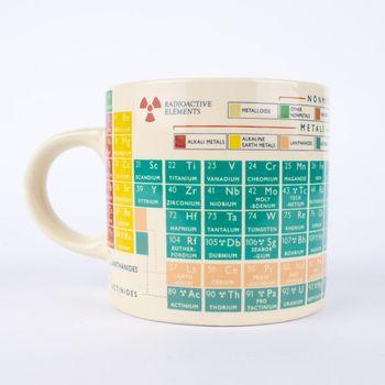 Tasse Periodensystem Keramik weiß bunt 9x12,5x8,5cm – Bild 2