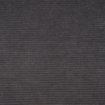 Rippen Jersey Cord Optik einfarbig dunkelgrau 1,60m Breite – Bild 1