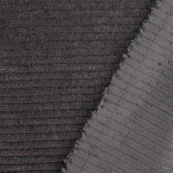 Rippen Jersey Cord Optik einfarbig dunkelgrau 1,60m Breite – Bild 4