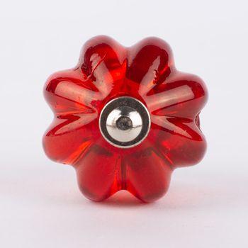 Türknauf im edwardianischen Stil Acryl rot transparent 4x7cm – Bild 1