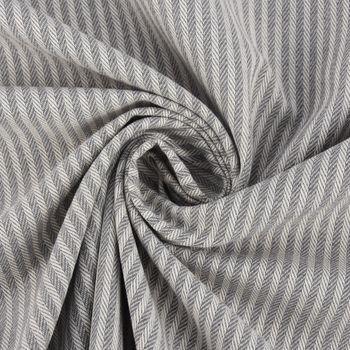 Dekostoff Streifen 3mm creme grau 1,40m Breite – Bild 3