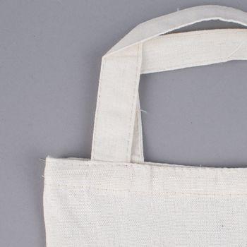 Stoff Tasche mit Lama Druck zum ausmalen natur 20x25cm – Bild 3