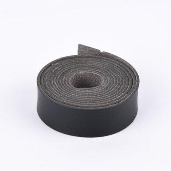 Kunstlederband flach schwarz 138x2cm – Bild 1