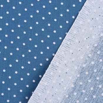 Baumwollstoff Punkte mini Ø 1mm jeansblau weiß 1,40m Breite – Bild 5