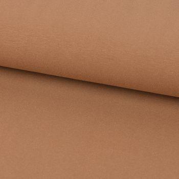 Baumwolljersey Jersey einfarbig hellbraun 1,60m Breite – Bild 1