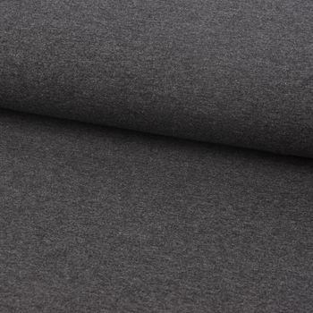 Baumwolljersey Jersey einfarbig dunkelgrau meliert 1,60m Breite – Bild 1