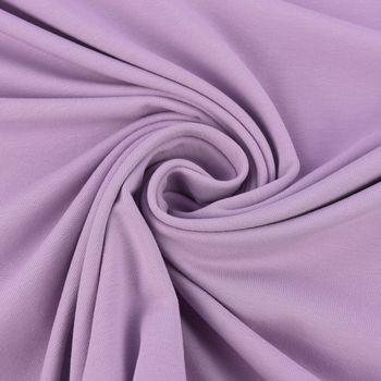 Baumwolljersey Jersey einfarbig flieder 1,60m Breite – Bild 2