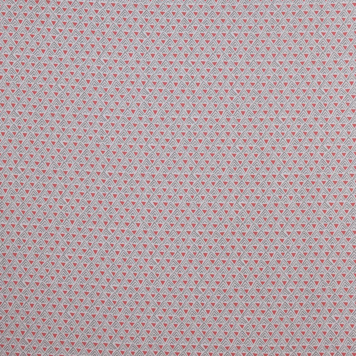 Baumwollstoff Retro Dreiecke rosa weiß