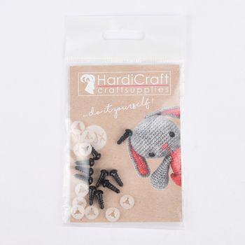 HardiCraft Sicherheitsaugen 10 Stück Kunststoff schwarz 6mm