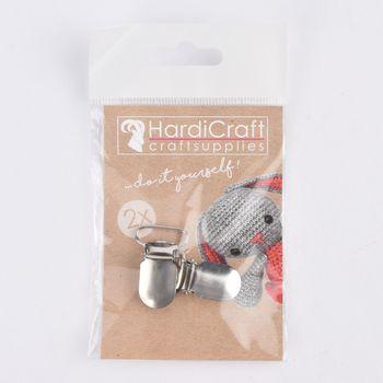 HardiCraft Hosenträger Clips 2er Set silberfarbig 35x18mm