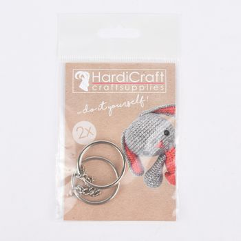 HardiCraft Schlüsselringe 2er Set silberfarbig 3cm
