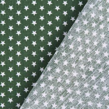 Baumwollstoff Mini Sterne dunkelgrün weiß 1,40m Breite – Bild 5