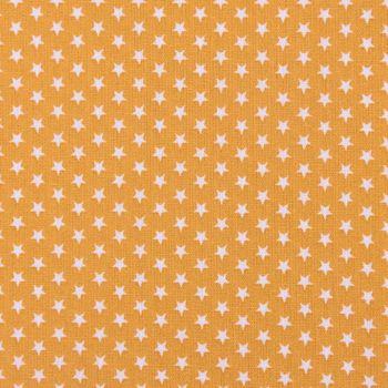 Baumwollstoff Mini Sterne ockergelb weiß 1,40m Breite – Bild 1