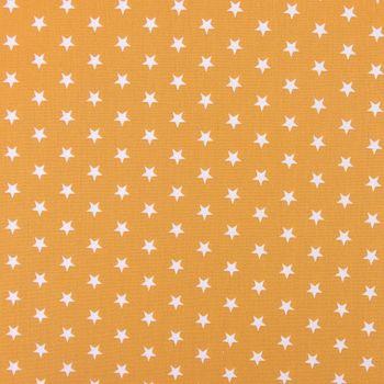Baumwollstoff Sterne ca. 1x1cm ockergelb weiß 1,40m Breite – Bild 2