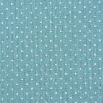Baumwollstoff Punkte mini Ø 1mm dunkelmint weiß 1,40m Breite – Bild 1