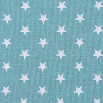 Baumwollstoff Sterne ca. 1x1cm dunkelmint weiß 1,40m Breite – Bild 1