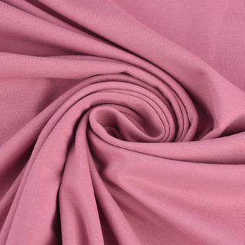 Baumwolljersey Jersey einfarbig malve rosa 1,60m Breite – Bild 2