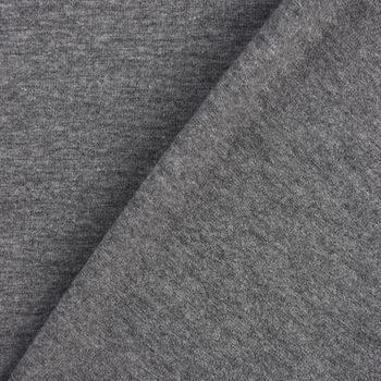 Baumwolljersey Jersey einfarbig mittelgrau meliert 1,60m Breite – Bild 5