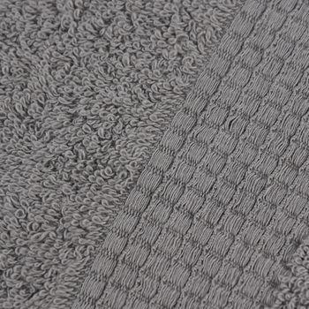 Qualitätsfrottee Handtuch 100% Baumwolle 500g/qm grau – Bild 6