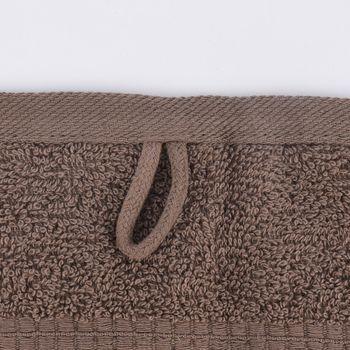 Qualitätsfrottee Handtuch 100% Baumwolle 500g/qm braun – Bild 10