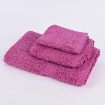 Qualitätsfrottee Handtuch 100% Baumwolle 500g/qm pink – Bild 1